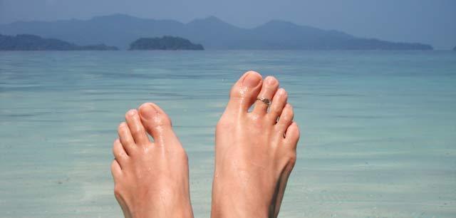 Les doigts de pieds en éventail avec la sophrologie